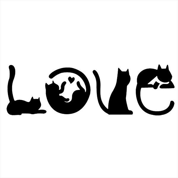 Adesivo - Love Gatos Pets