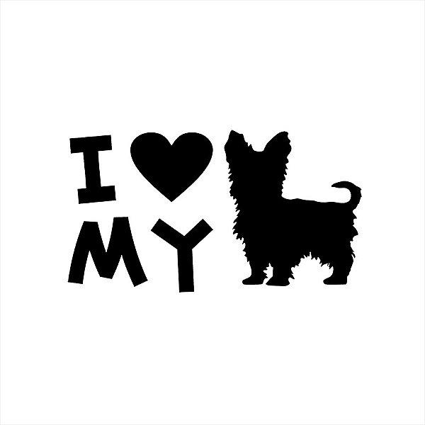 Adesivo - I Lov My Dog Pets