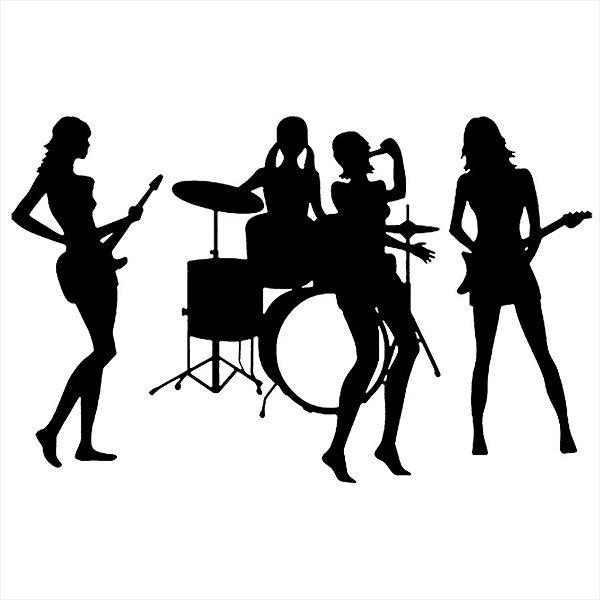 Adesivo - Banda Mulheres Música
