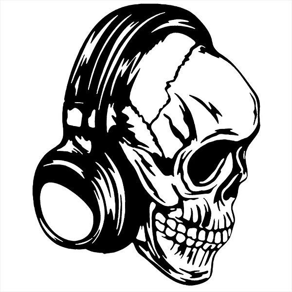 Adesivo - Cranio Fone Música