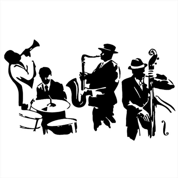 Adesivo - Jazz Band Música