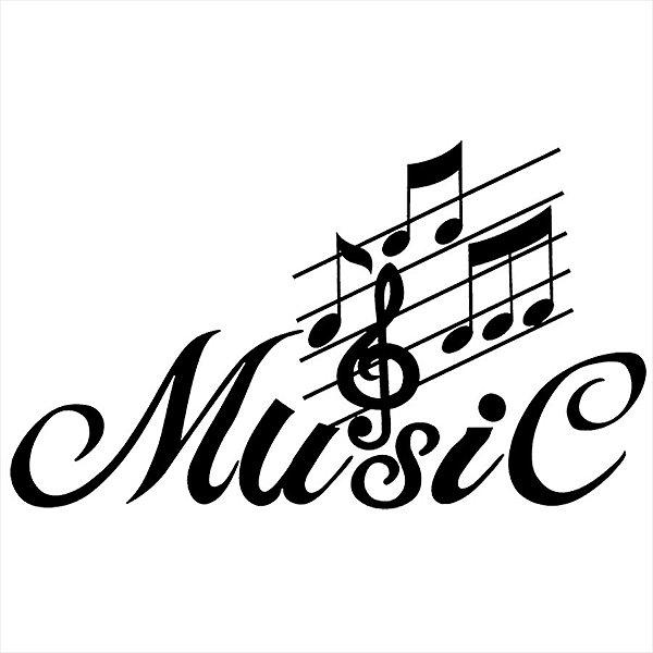 Adesivo - Music Música