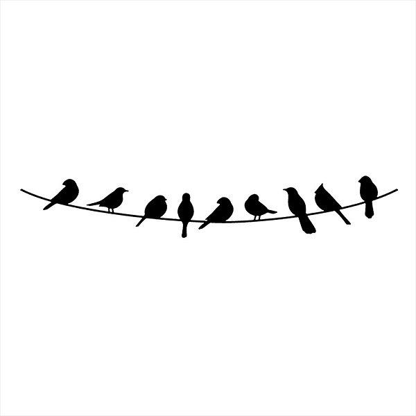 Adesivo - Pássaros nos Fios Natureza