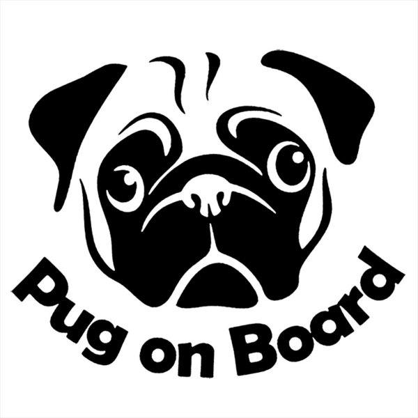 Adesivo - Cachorro - Pug Pets
