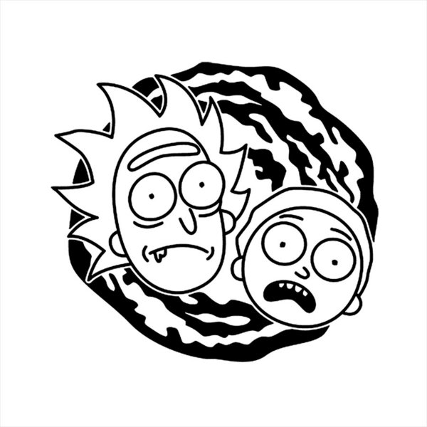Adesivo - Rock and Morty Desenho