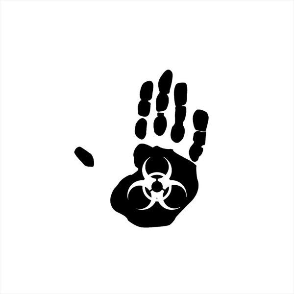 Adesivo - Mão Infectante Profissões