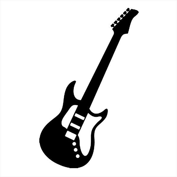 Adesivo - Guitarra Elétrica Música