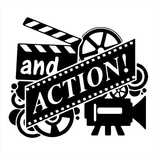 Adesivo - Cinema Filmagem And Action Cinema