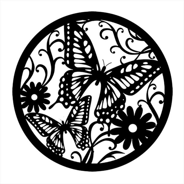 Adesivo - Vitral De Borboletas E Flores Natureza