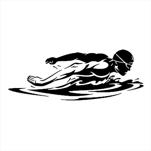 Adesivo - Nadador Olímpico Esporte