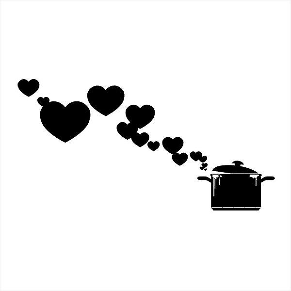 Adesivo - Panela Corações Cozinha