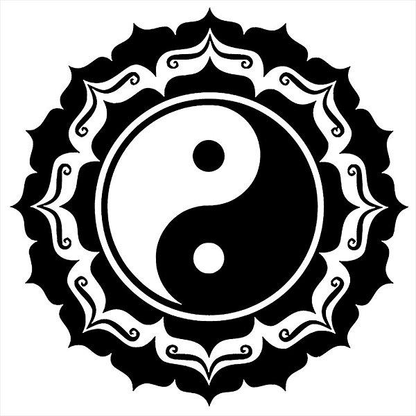 Adesivo - Yin Yang Lotus Religião