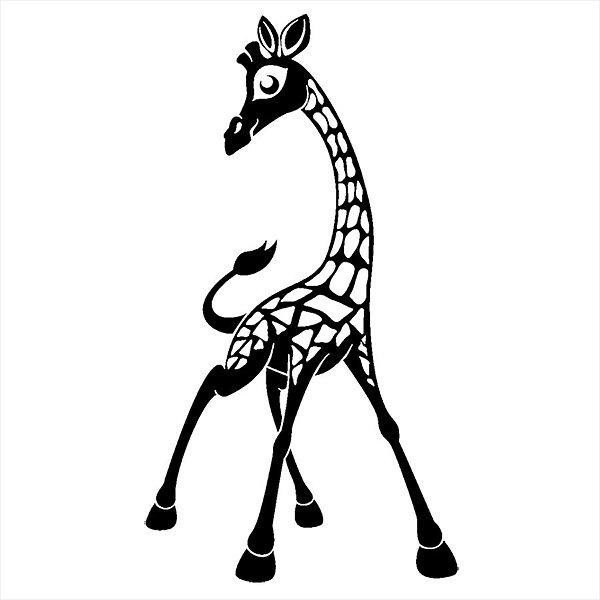 Adesivo - Girafa Bonitinha Natureza