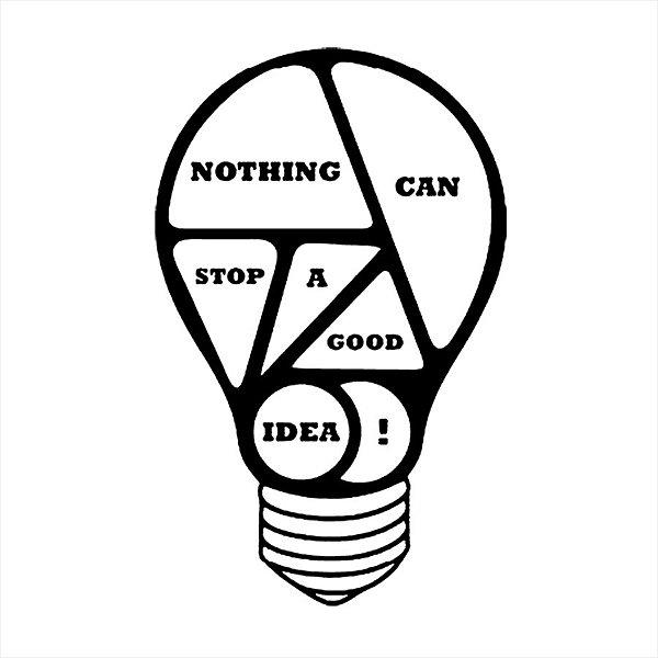 Adesivo - Lâmpada Nothing Can Stop A Good Idea! Business