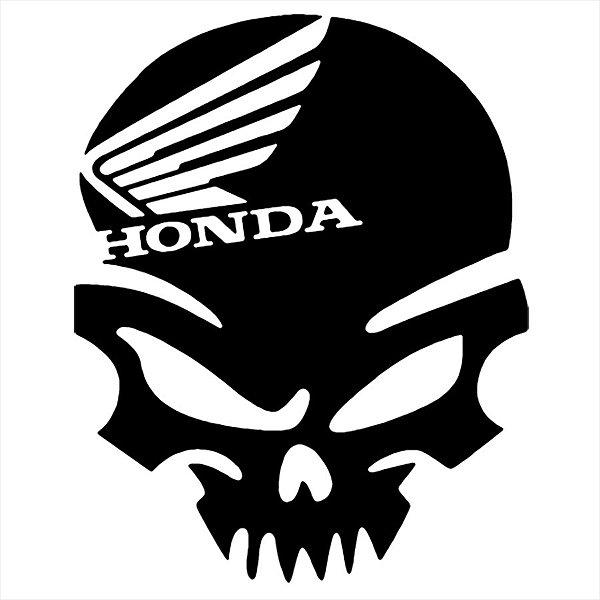 Adesivo - Caveira Honda Automóveis
