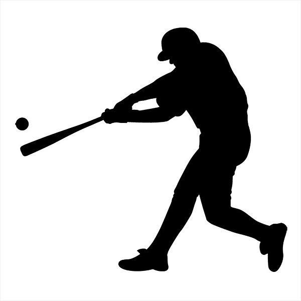 Adesivo -  Baseball Beisebol Tacada Ball Bat Esporte