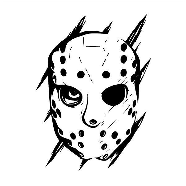 Adesivo - Jason Sexta-Feira 13 Terror Cinema