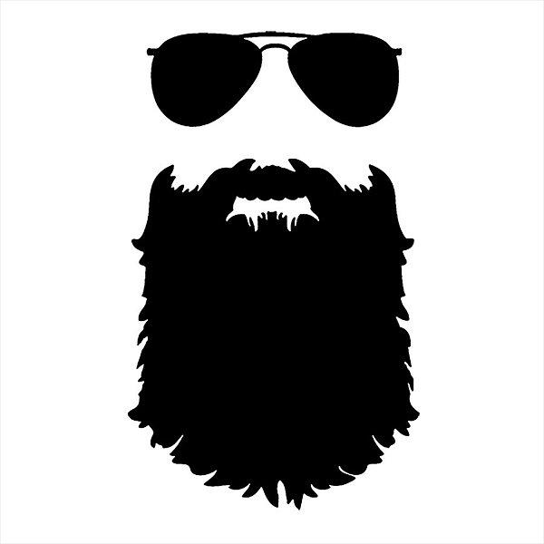Adesivo - Óculos De Sol Aviador E Barba Pessoas