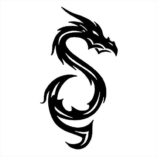 Adesivo - Dragão S Tribal Dragon Outros