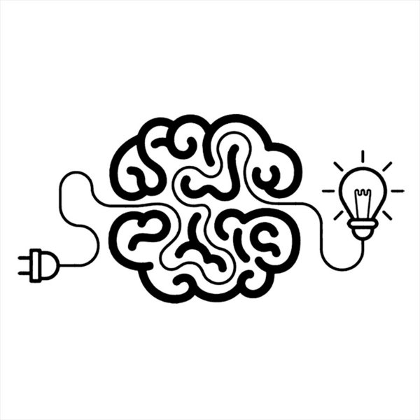 Adesivo - Ideas Brain Light Bulb Idéias Cérebro Lâmpada Business