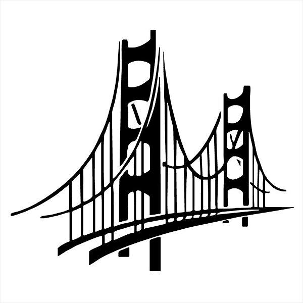 Adesivo - Ponte Golden Gate São Francisco California San Francisco Ca Usa Viagem/Turismo