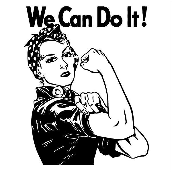 Adesivo - We Can Do It Feminism Feminismo Sociedade