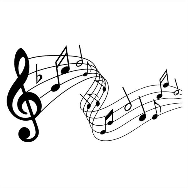 Adesivo - Música Partitura Clave De Sol Notas Sheet Music Música