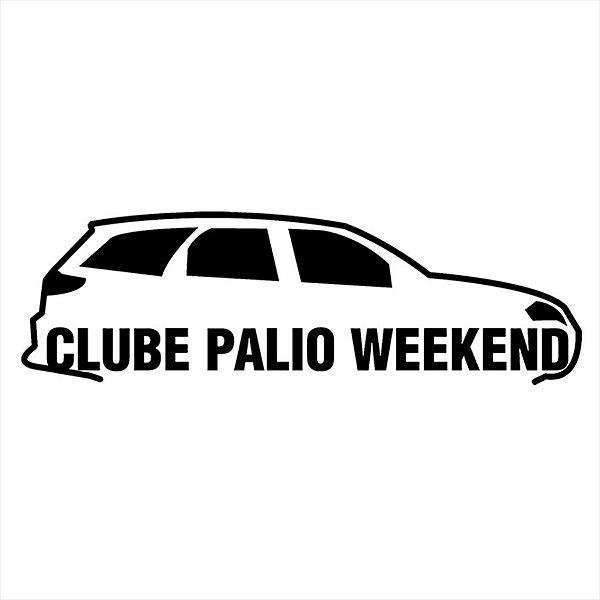 Adesivo - Clube Palio Weekend Carro Silhueta Silhouette Automóveis