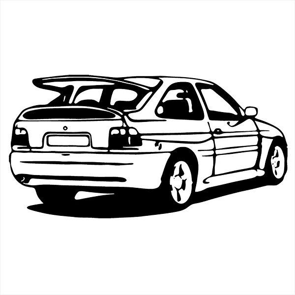 Adesivo - Ford Escort Carro Silhueta Silhouette Automóveis