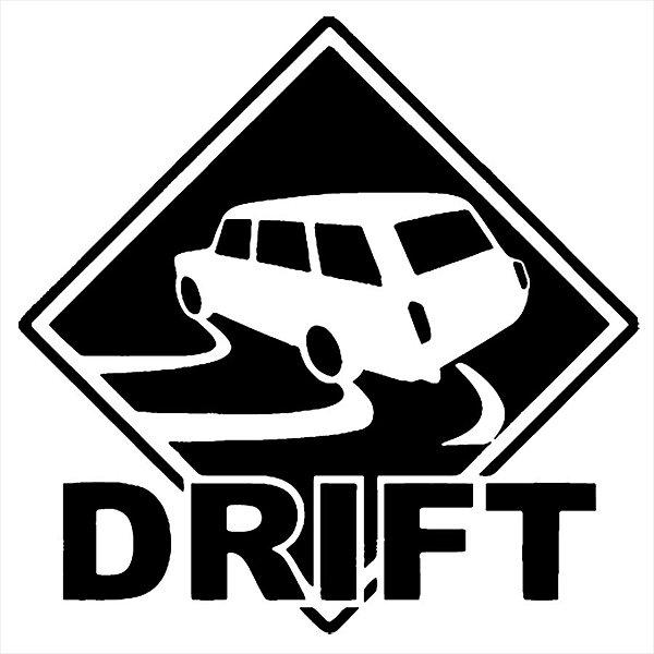 Adesivo - Car Drift Placa Sinalização Traffic Sign Placas/Sinalização