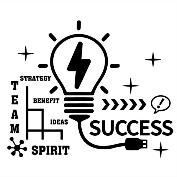 Adesivo - Success Team Spirit Strategy Benefit Ideas Business