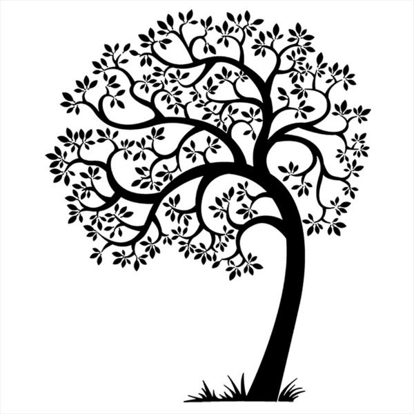 Adesivo - Árvore Cheia De Folhas Tree Full Of Leaves Floral