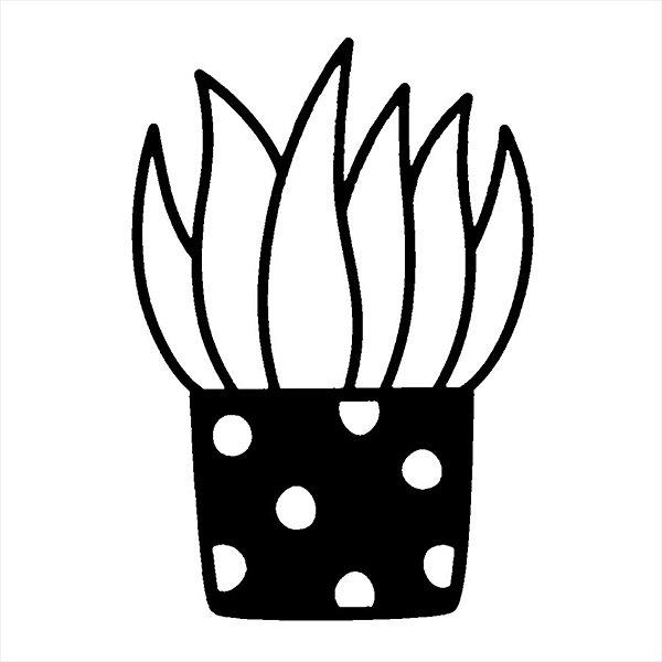 Adesivo - Cactus Cacto Envasado Planta Vase Natureza