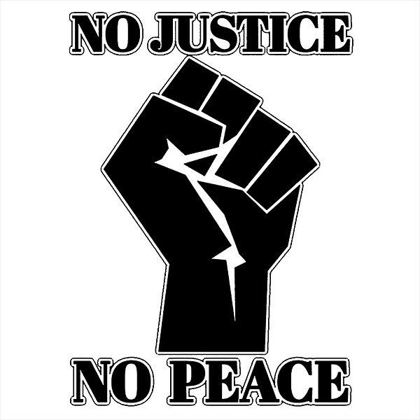 Adesivo - No Justice No Peace Black Lives Matter Sociedade
