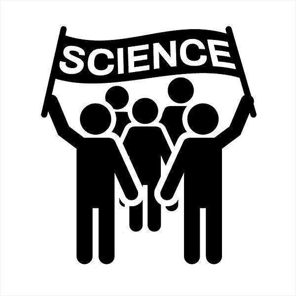Adesivo - Science Ciência Pessoas Protestando Ciência