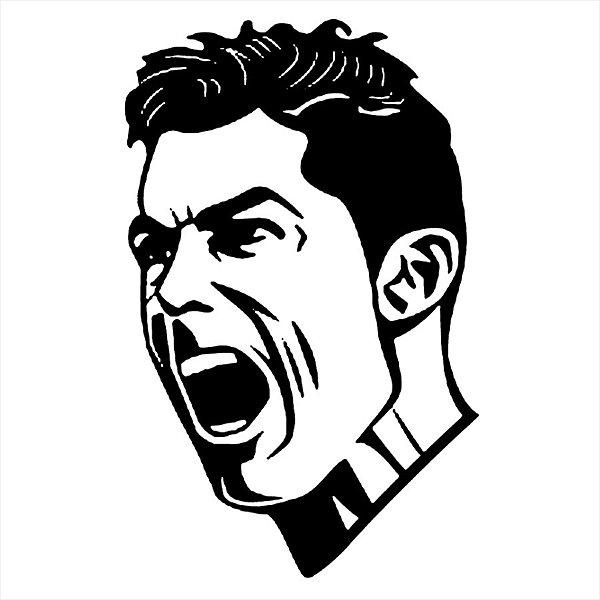 Adesivo - Cristiano Ronaldo Futebol Soccer Esporte