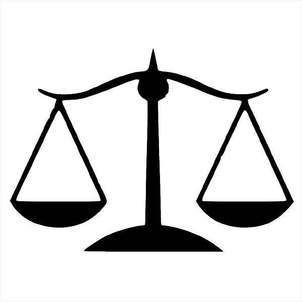 Adesivo - Advocacia Símbolo Law Symbol Balança Profissões