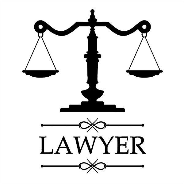 Adesivo - Lawyer Advogado Advocacia Símbolo Law Profissões