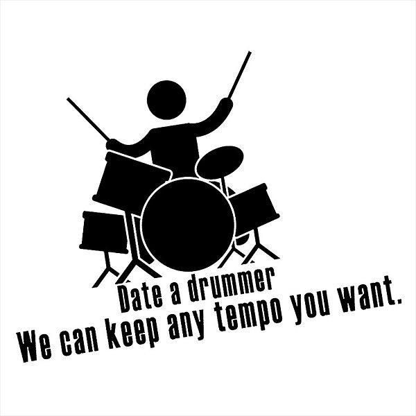 Adesivo - Drumms Bateria Date A Drummer Música