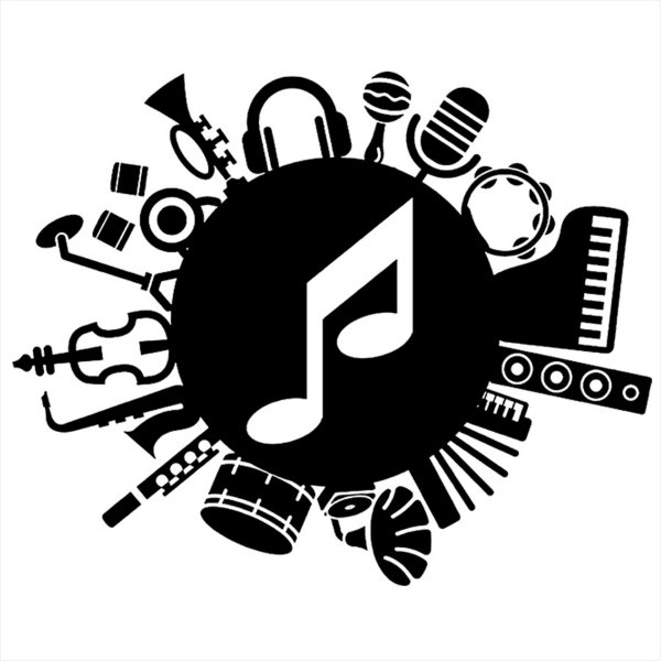 Adesivo - Music Música Instruments Instrumentos Música