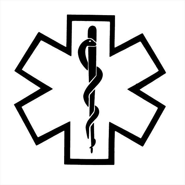 Adesivo - Bastão Esculápio Asclépio Medicina Profissões