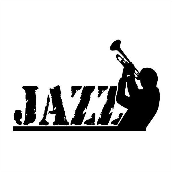 Adesivo - Jazz Musician Trumpet Player Trompete Música