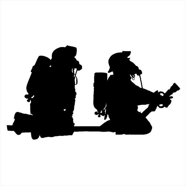Adesivo - Bombeiros Firefighters Firemen Profissões