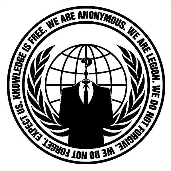 Adesivo - We Are Anonymous Logo Sociedade