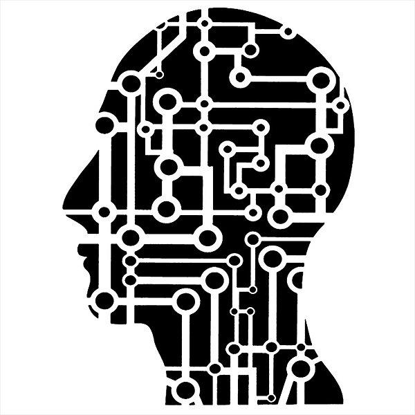 Adesivo - Cabeça Silhueta Conexões Pessoas Música