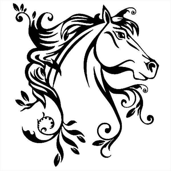 Adesivo - Cavalo Floral Desenho Cartoon Flowers Desenho
