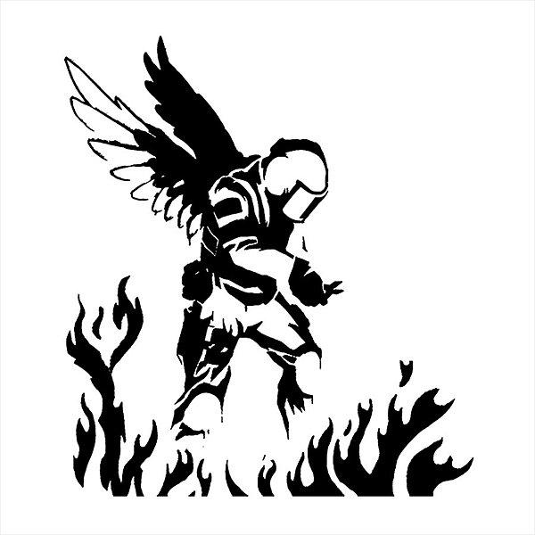 Adesivo - Bombeiro Firefighter Fire Fogo Anjo Profissões