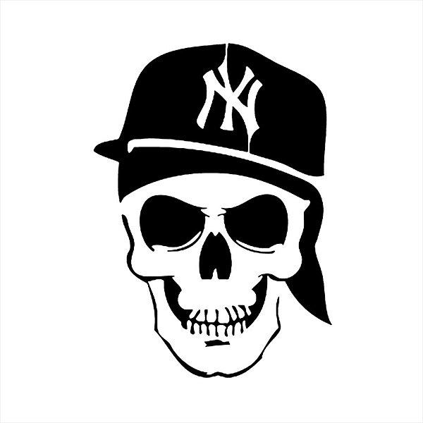 Adesivo - New York Yankees Caveira Crânio Boné Esporte