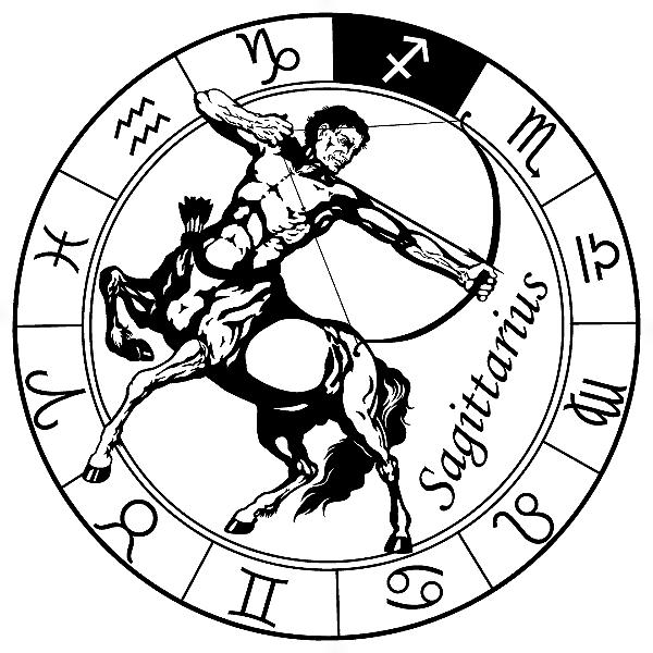 Adesivo - Sagitário Sagittarius Signos Do Zodíaco Signs