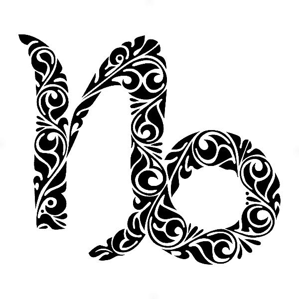 Adesivo - Capricórnio Capricorn Signos Do Zodíaco Signs